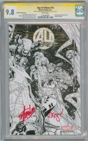 Age Of Ultron #10 Joe Quesada Angela Sketch Variant 1:100 CGC 9.8 Signature Series Signed Stan Lee & Brian Michael Bendis Marvel comic book